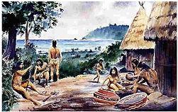 illustration des arawaks marie-galante