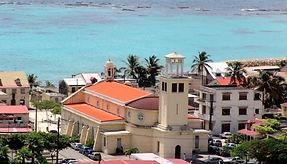 Panorama Capesterre marie-galante avec l'hôtel la rose du brésil