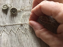 Meticulous hand smocking