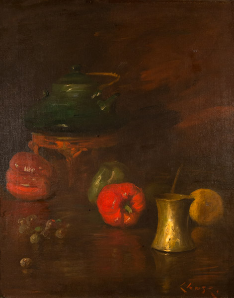 Chase - Still-Life with Peppers, Tea