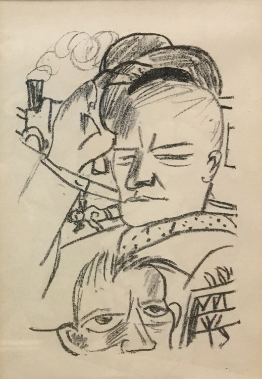Max Beckmann - Self-portrait, Litho_