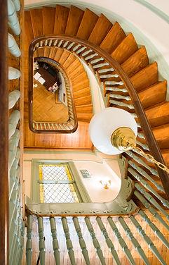 LillieCarroll_birdseye spiral staircase.