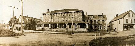Historic panorama of The Rangeley Inn