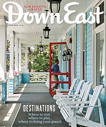 Down East Magazine cover showing The Rangeley Inn
