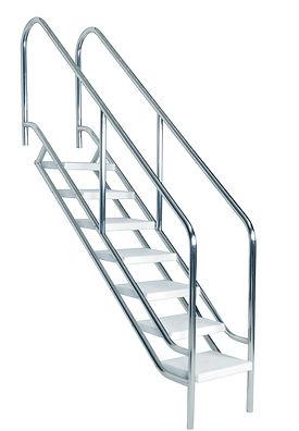 escalera de 5 peldaños especial rehabilitacion para alberca acero inoxidable