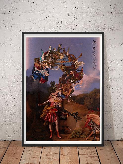 [With frame POSTER]  HUMAN ERROR artwork by kazuya tanaka
