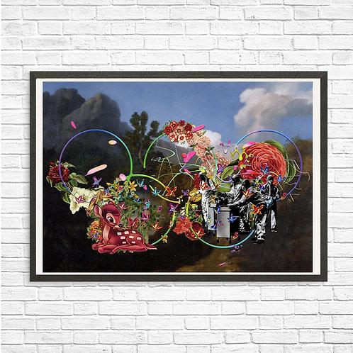 [With frame POSTER] fぉlymぴc artwork by kazuya tanaka