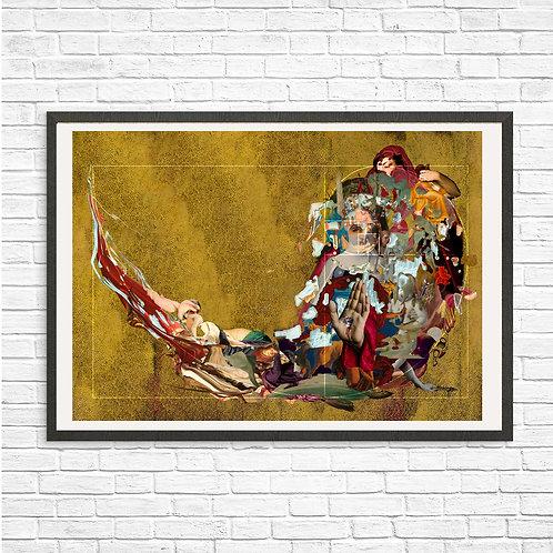 [With frame POSTER] GOLDEN RULE artwork by kazuya tanaka