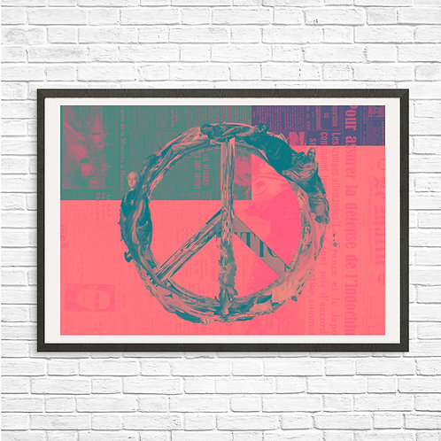 [With frame POSTER]  Peace artwork by kazuya tanaka