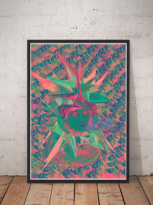 [With frame POSTER] WAR artwork by kazuya tanaka