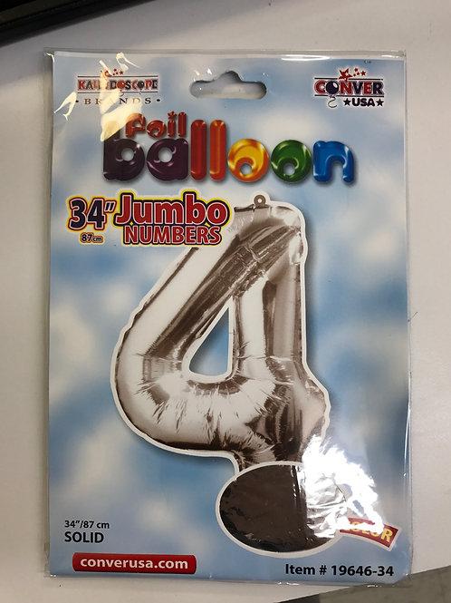 Jumbo #4 Balloon