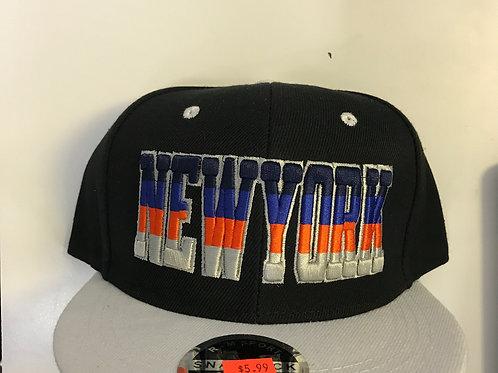 Striped New York Snapback Hat