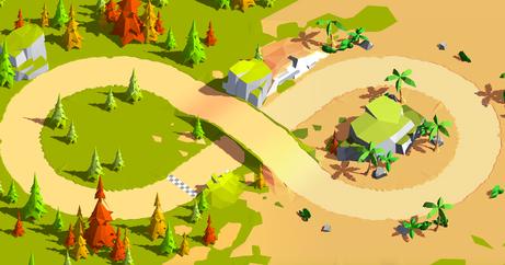LowPoly Terrain - Track
