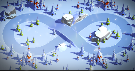LowPoly Track - Snow