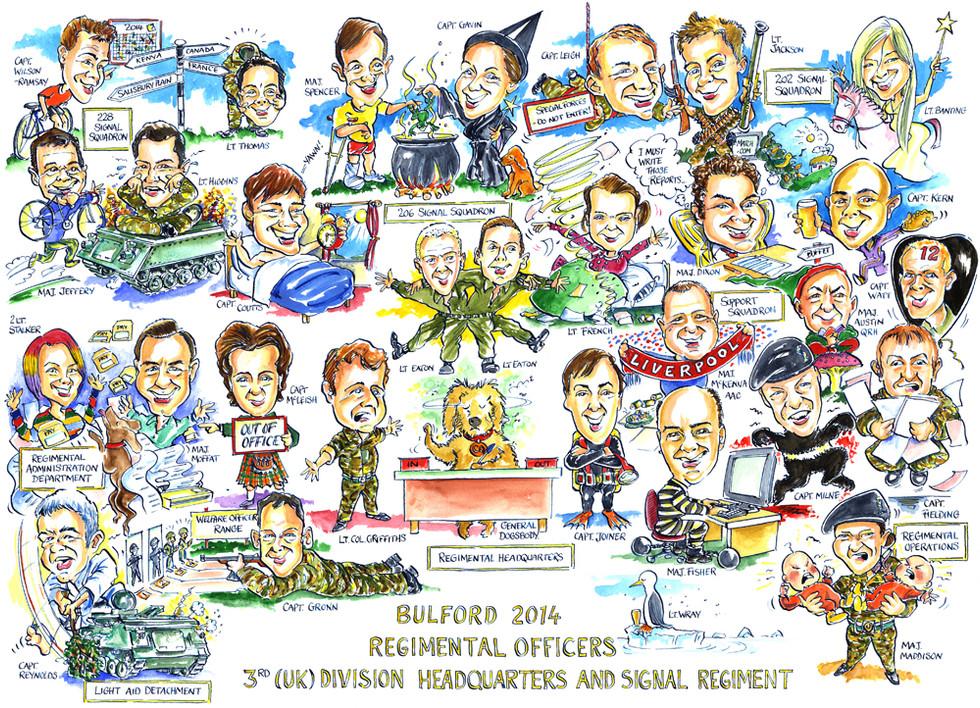 Regimental Group Caricature for MOD