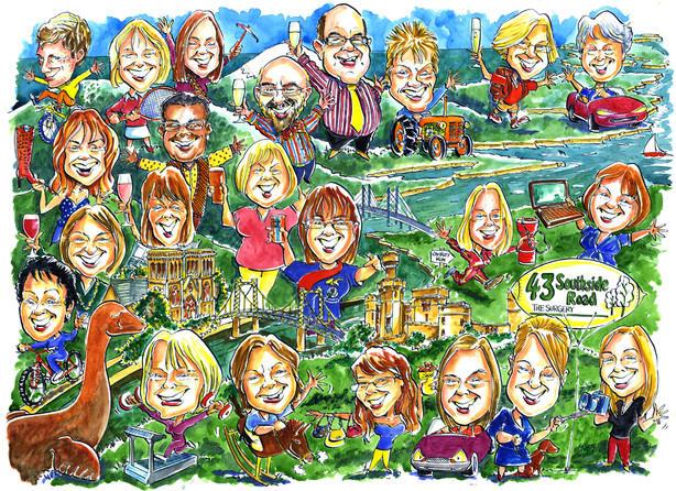 Staff Caricature for Scottish Surgery