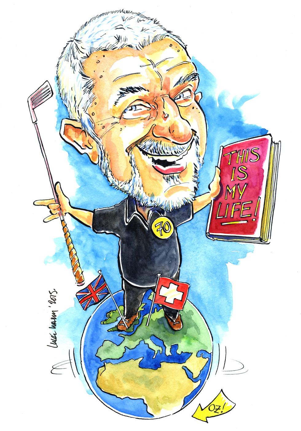 70th Birthday Golf Caricature