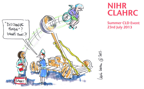 Conference Cartoon on the lack of appropriate NHS Discharge Bundles