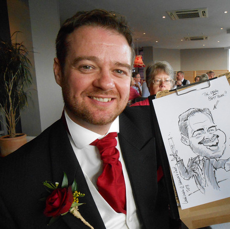 Caricature of the Best Man at a wedding