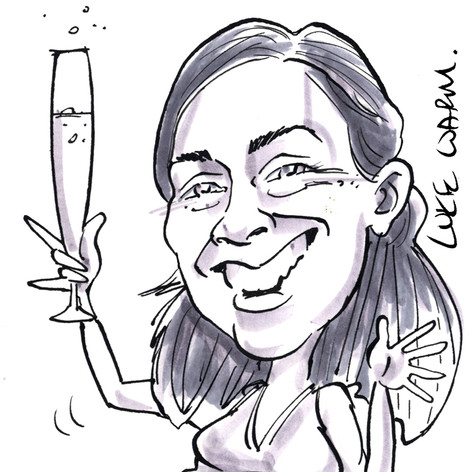 A6 Place Setting Caricature
