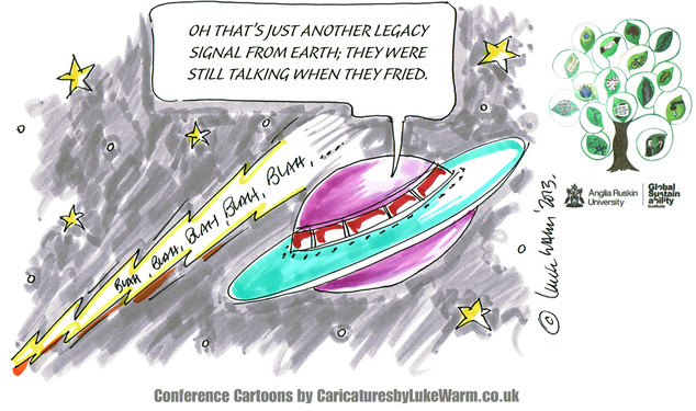 End of the World Conference Cartoon