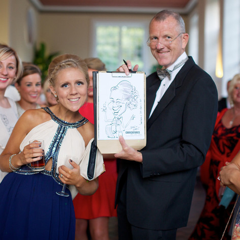 Caricature of Wedding Guest drawn on the spot at Reception