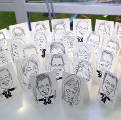 A6 B&W Place Setting Caricatures by Luke Warm