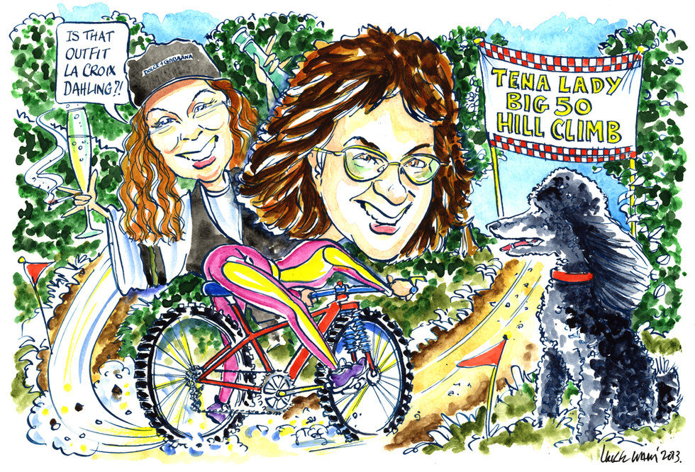 50th Birthday Caricature with Jennifer Saunders