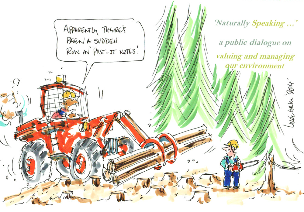 Conference Cartoon on Deforestation and Sustainability