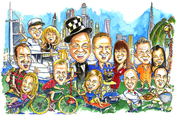 Expat Leaving Present Caricature