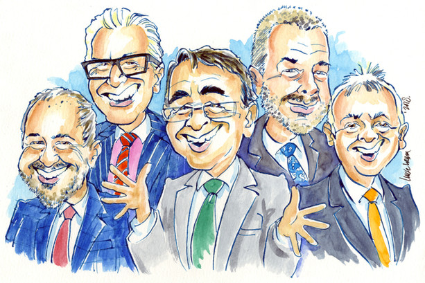 Corporate Leaving Present Caricature
