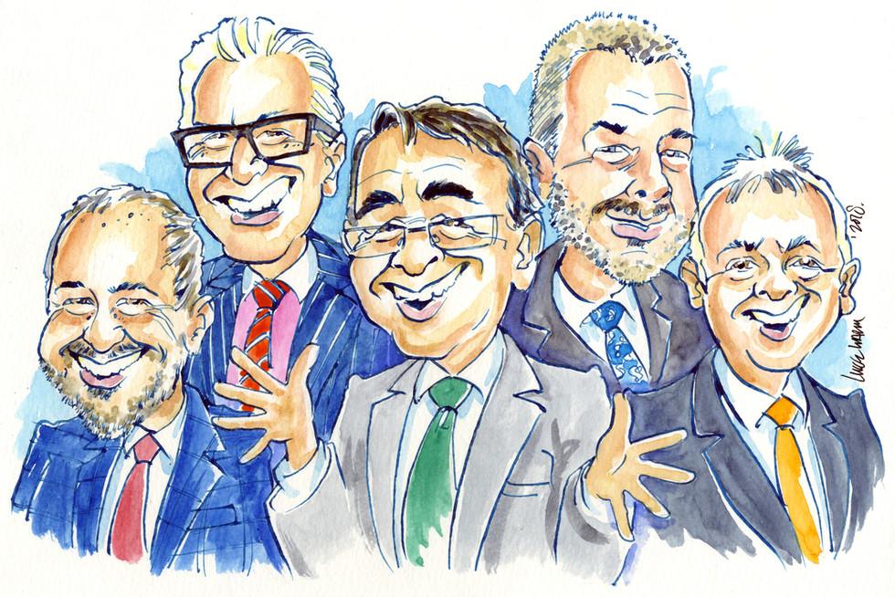 Corporate Leaving Present Caricature
