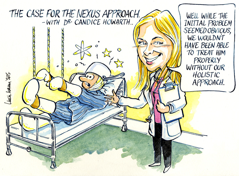 Caricature Redrawn as Gift for Key Speaker