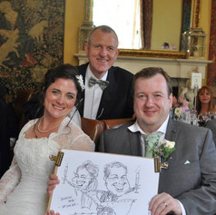 Caricature of the Bride and Groom drawn on the spot at their wedding