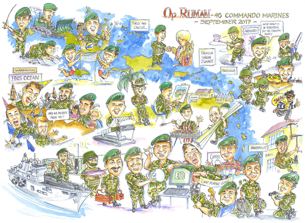 Commando Mess Group Caricature