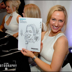 Luke Warm Caricaturing On the Spot at a University Student Ball in Plymouth, Devon