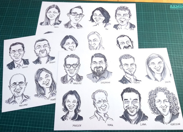 Zoom Conference Caricatures