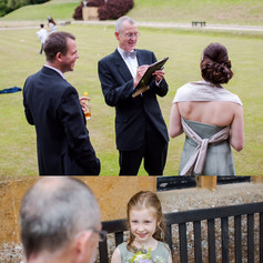 Luke Warm Caricaturing on the spot at a wedding
