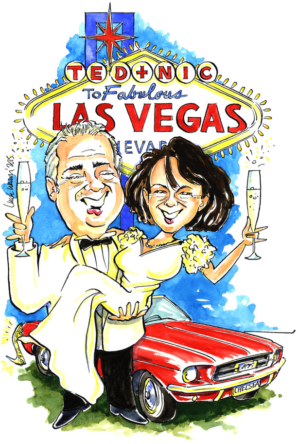 Las Vegas Wedding Present Caricature