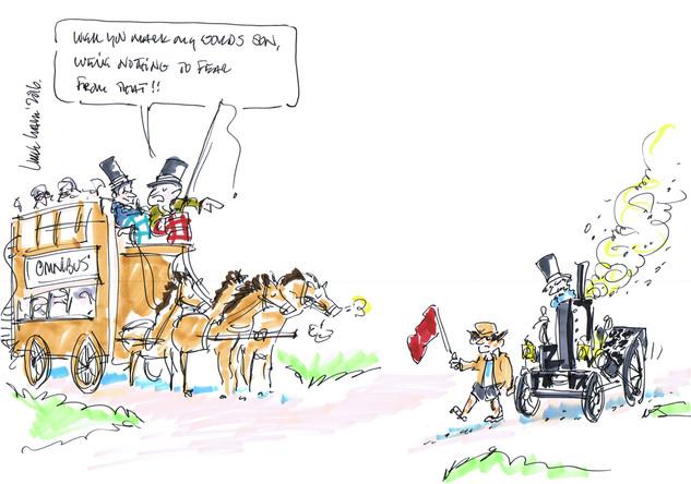 Scientific Progress Conference Cartoon by Cartoonist Luke Warm