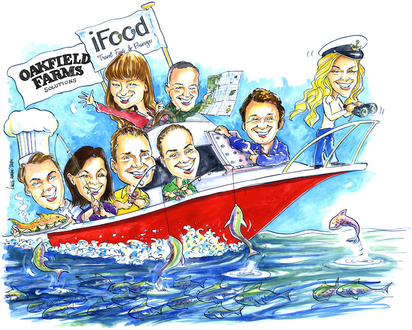 Project Success Corporate Team Caricature