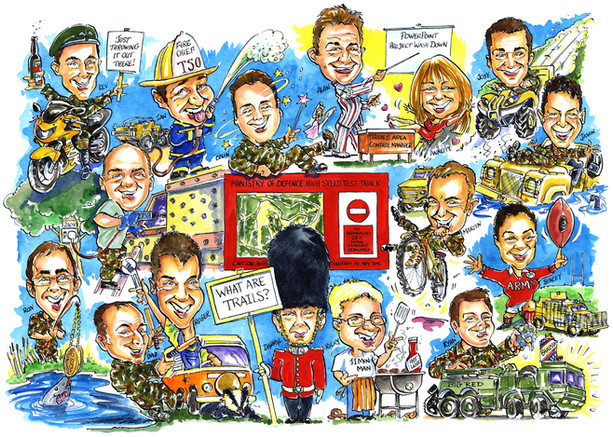 MOD Mess Team Caricature