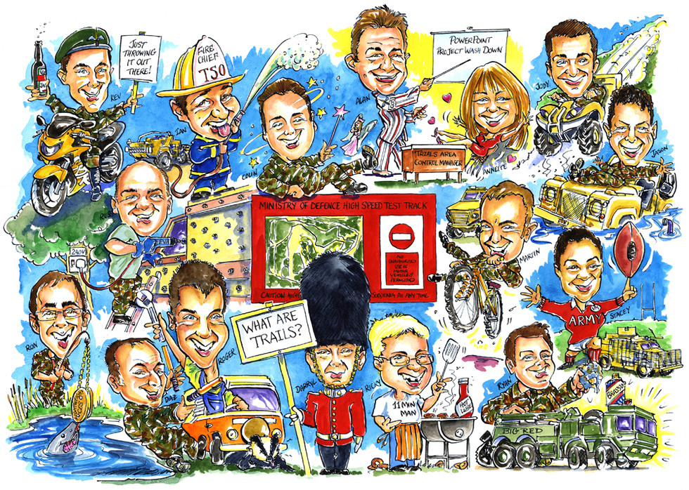 MOD Mess Team Caricature
