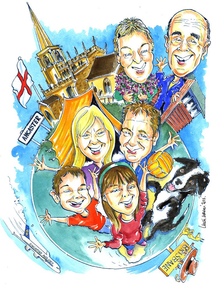 Emigrating to Australia Caricature