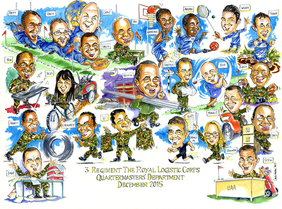 Quartermasters Group Caricature for MOD