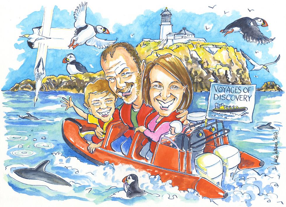 Scottish Sea Safari Caricature