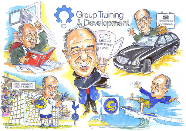 Thank You Present for Chairman Caricature