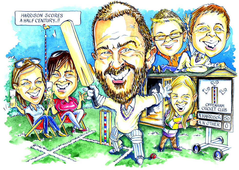 50th Birthday Caricature for Dad