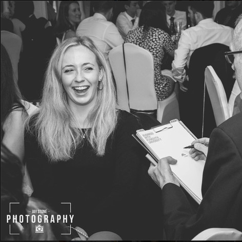 Luke Warm Caricaturing On the Spot at a Student Ball in Plymouth