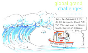 Tsunami Conference Cartoon by Cartoonist Luke Warm